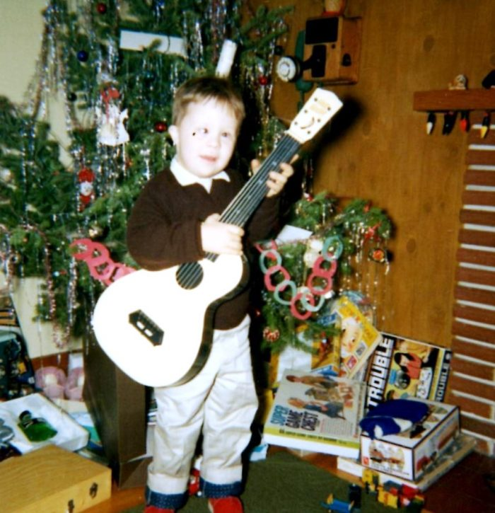 Christmas 1968 Four years old Guitar Kenny