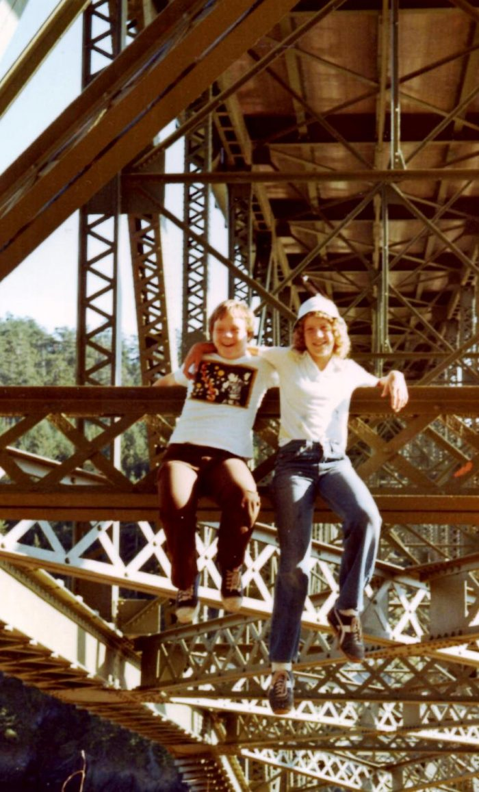 Summer 1978 Hanging out at Deception pass with Diana