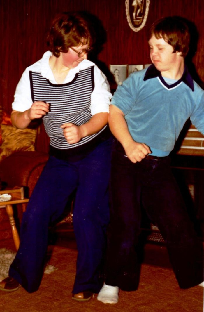 Disco dancing with Joanne 1980