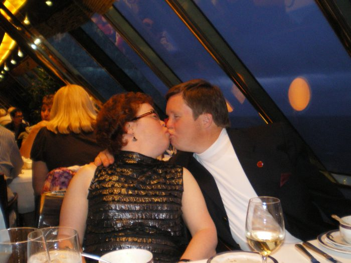 2010 Cruise ship smooch with Emily