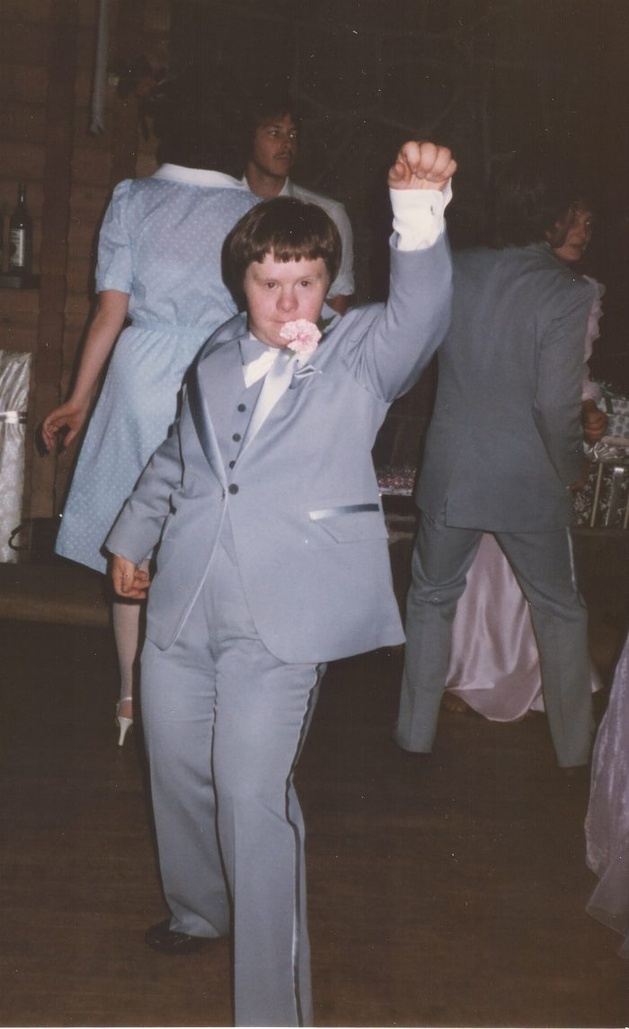 Disco dancing at Jim's wedding