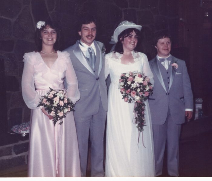 1984 Jim's wedding party