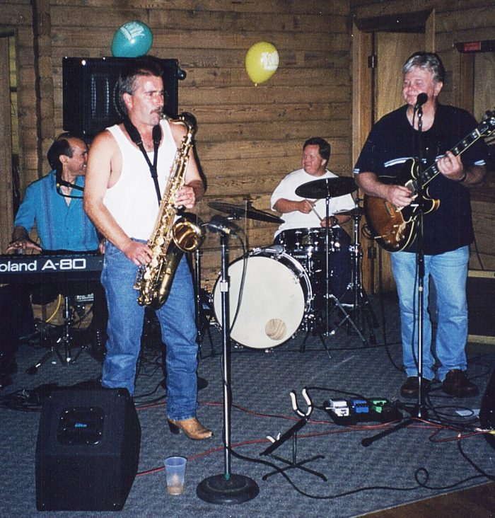 Ken playing with brother-in-law's band